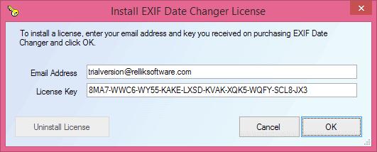 Exif Date Changer Serial Number - trekcrise