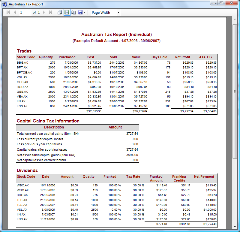 Tax reporting of options trades